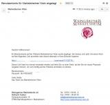 E-Mail zum Benutzerkonto (bei neuer Registrierung)